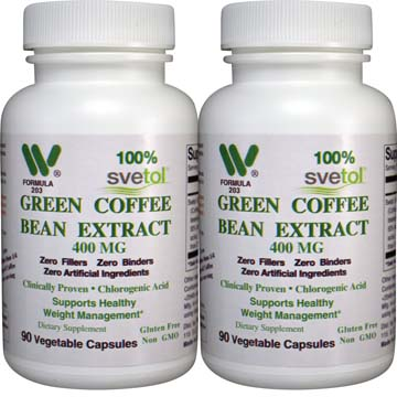 Svetol® Green Coffee Bean Extract 400 mg (2 Bottle Pack)
