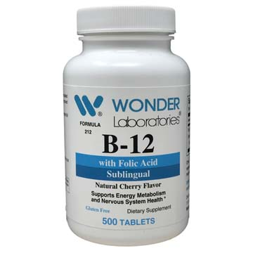 B-12 with Folic Acid | Sublingual | Cherry Flavor