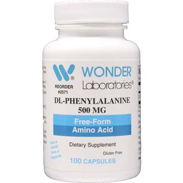 DL-Phenylalanine 500 MG Free Form Amino Acid