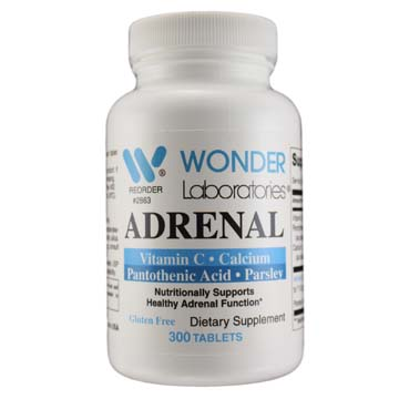 Adrenal w/ Vitamin C, Calcium, Panthotehnic Acid and Parsley | Nutritionally Supports Healthy Adrenal Function