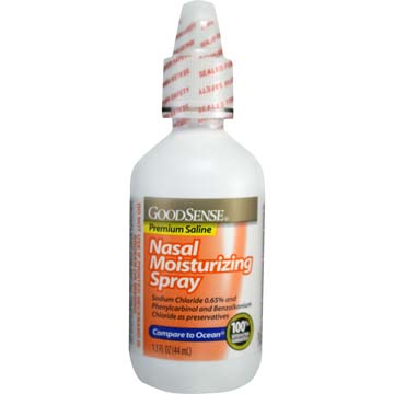 Nasal Moisturizing Spray - Premium Saline by GoodSense