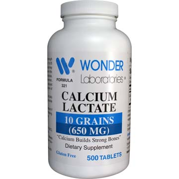 Calcium Lactate - 10 Grains | 650 mg