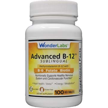 Advanced Vitamin B12 Sublingual | B6 - Folic Acid - Biotin
