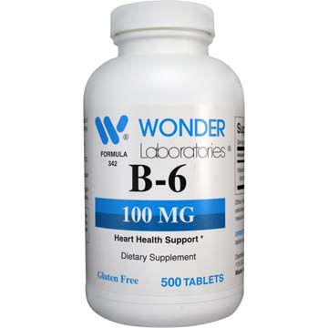 Vitamin B-6 100 mg | Heart Health Support Dietary Supplement