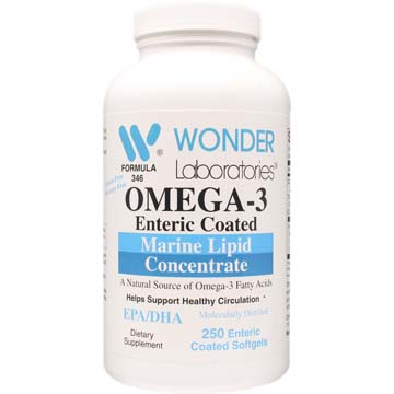 Omega-3 Enteric Coated Fish Oil 2000 mg Per 2 Softgels