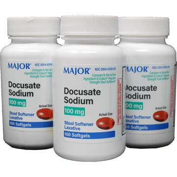 Colace Comparable Docusate Sodium Stool Softeners DocQlace