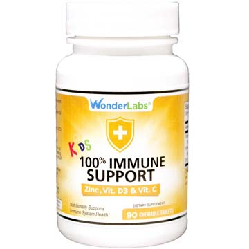 Kids 100 Immune Support<br>Chewable Tablets