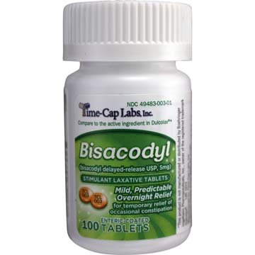 Bisacodyl Enteric Coated Delayed-Release Laxative Tablets USP 5 mg
