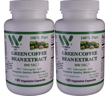 Pure Green Coffee Bean Extract 800mg | This Item Ships FREE!