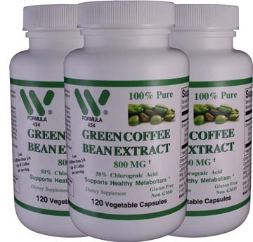 Green Coffee Bean Extract 800mg | 3 Pack + Raspberry Ketones