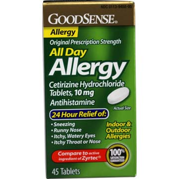 Allergy All Day Compare to Active Ingredient of ZYRTEC