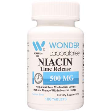 Niacin 500 mg Time Release Coated Tablets