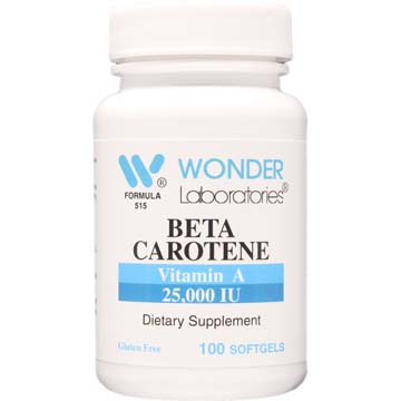 Beta Carotene Vitamin A 25,000 IU
