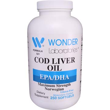 Cod Liver Oil - EPA/DHA | Maximum Strength Norwegian