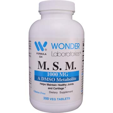 M.S.M. 1000 MG - A DMSO Metabolite
