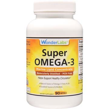 Super Omega-3 | Supports Heart Health and Circulation | 90 Count Bottle
