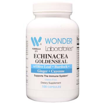 Echinacea with Goldenseal Root, Olive Leaf and Ginger