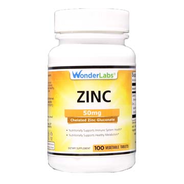Zinc 50 mg | Chelated Zinc Gluconate