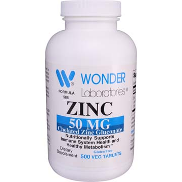 Zinc 50 mg Chelated Zinc Gluconate