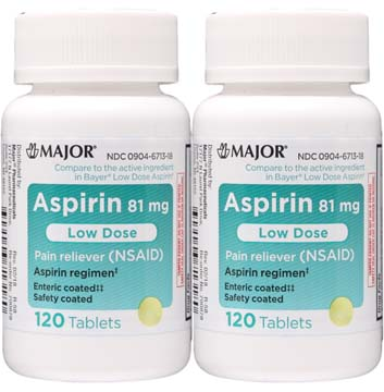 Aspir Low | Low Dose Aspirin 81 mg | Enteric Coated