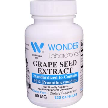 Grape Seed Extract - Standardized to 95% Proanthocyanidins | Nutritionally Supports Healthy Peripheral Circulation