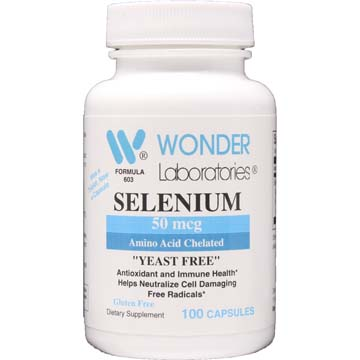 "Selenium 50 mcg | Amino Acid Chelated ""Yeast Free"""