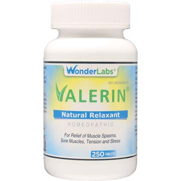 Valerin® All-Natural Relaxant for Muscle Cramps and Pain 250 w/ Free 90 ct Bottle