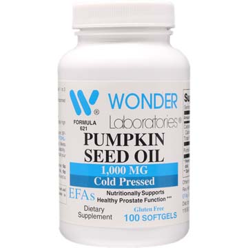 Pumpkin Seed Oil 1000 mg - Organic Cold Pressed | Nutritional Support for Healthy Prostate Function