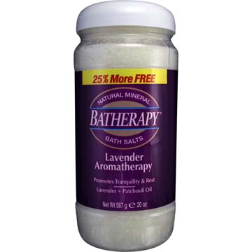 Lavendar Aromatherapy Bath Salts by Batherapy®