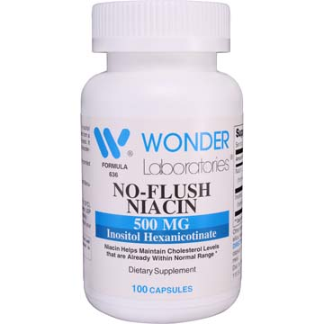 No-Flush Niacin 500 mg | Inositol Hexanicotinate