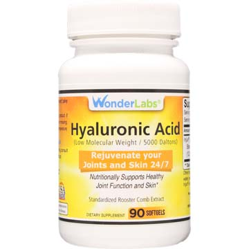 Hyaluronic Acid | Supports and Promotes Healthy Skin and Joints | Rooster Comb Extract