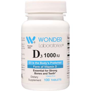 Vitamin D-3 Natural Dry D-3 1000 IU