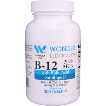 B-12 2000 mcg with Folic Acid | Sublingual