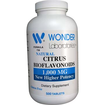 Natural Citrus Bioflavonoids 1000 mg | New Higher Potency
