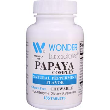 Papaya Complex Chewable | Food Enzymes (Peppermint Flavored)