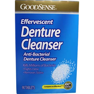Effervescent Anti-Bacterial Denture Cleanser by GoodSense