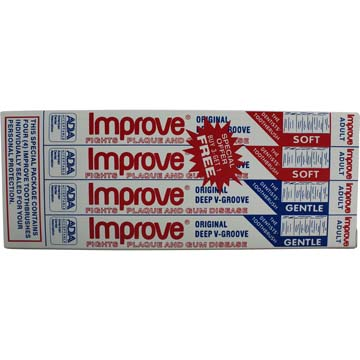 Toothbrush Improve® 2 Soft and 2 Gentle