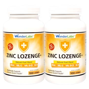 Zinc Lozenges with Vitamin C + Vitamin D3 - 2 Pack