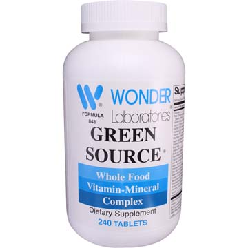 Green Source Multivitamin - Whole Food Vitamin Mineral Complex
