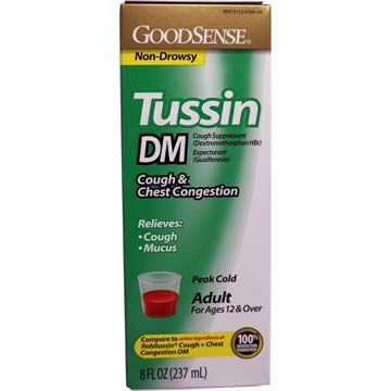 Tussin DM Cough & Chest Congestion, Compare to Robitussin DM