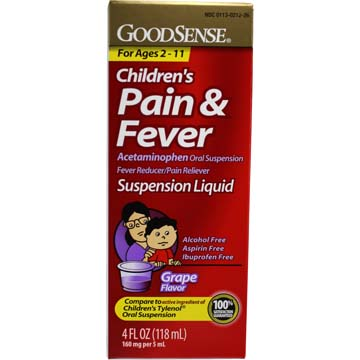 Children's Pain & Fever - Suspension Liquid (Grape Flavor)