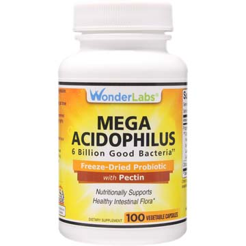 Mega Acidophilus Probiotic | 6 Billion Microorganisms†