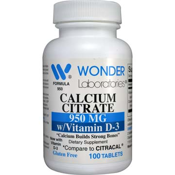 Calcium Citrate with Vitamin D-3 Citracal 950 Comparable