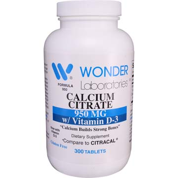 Calcium Citrate | 950 mg w/ Vitamin D-3