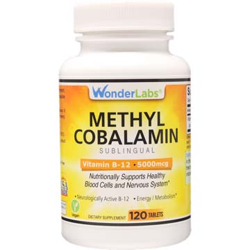 Methylcobalamin Vitamin B12 5000 mcg | Sublingual