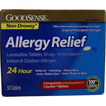Non-Drowsy Allergy Relief, Compare to Claritin Tablets