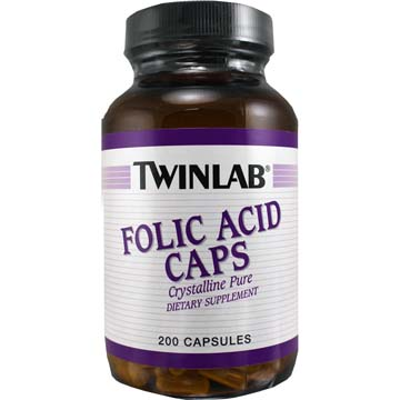 Folic Acid Caps - Crystalline Pure - 800 mg by TwinLab®