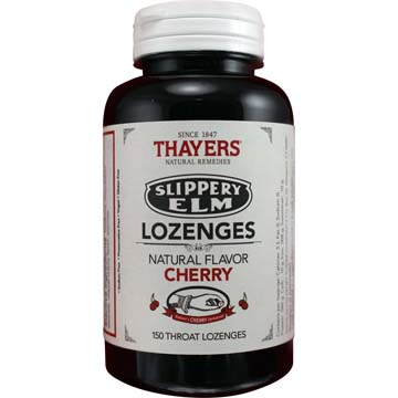 Slippery Elm Throat Lozenges - Natural Cherry Flavor