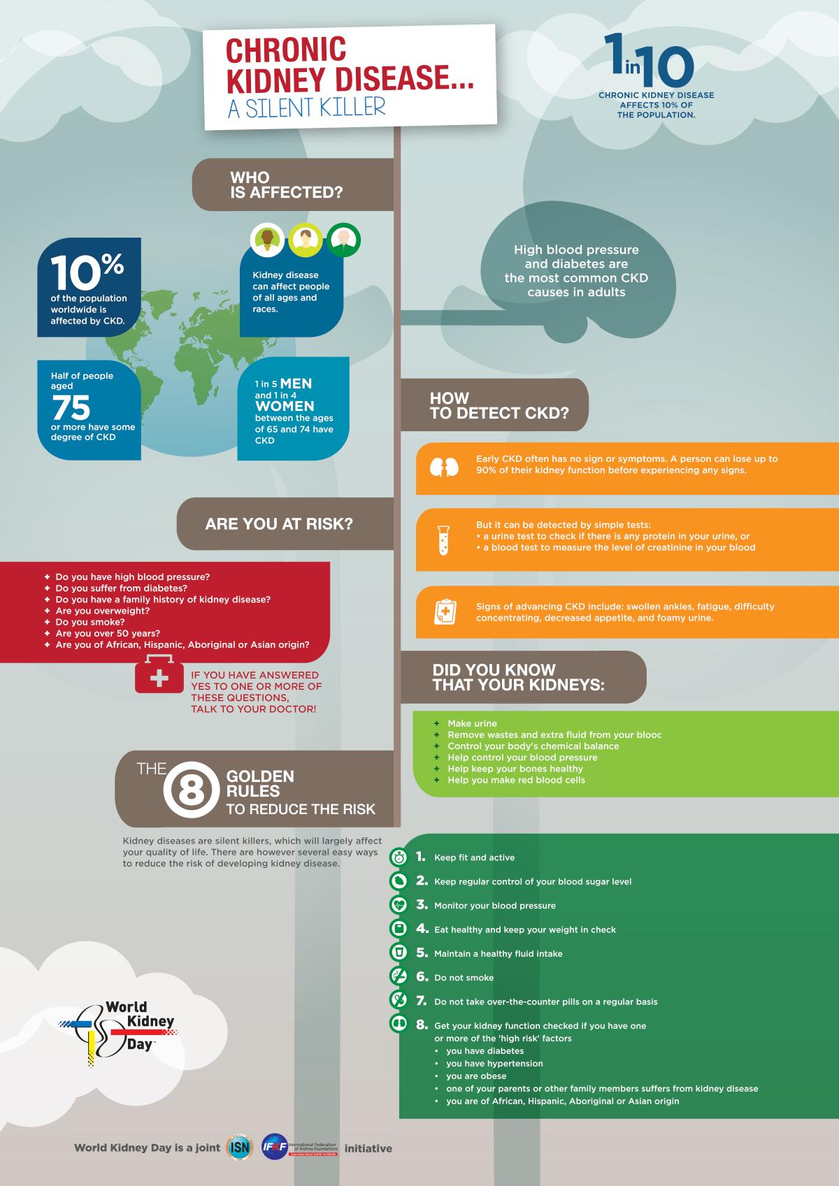 Chronic Kidney Disease Infographic - World Kidney Day