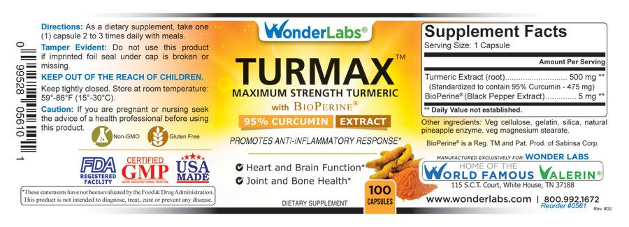 Turmax Product Label Item#0563